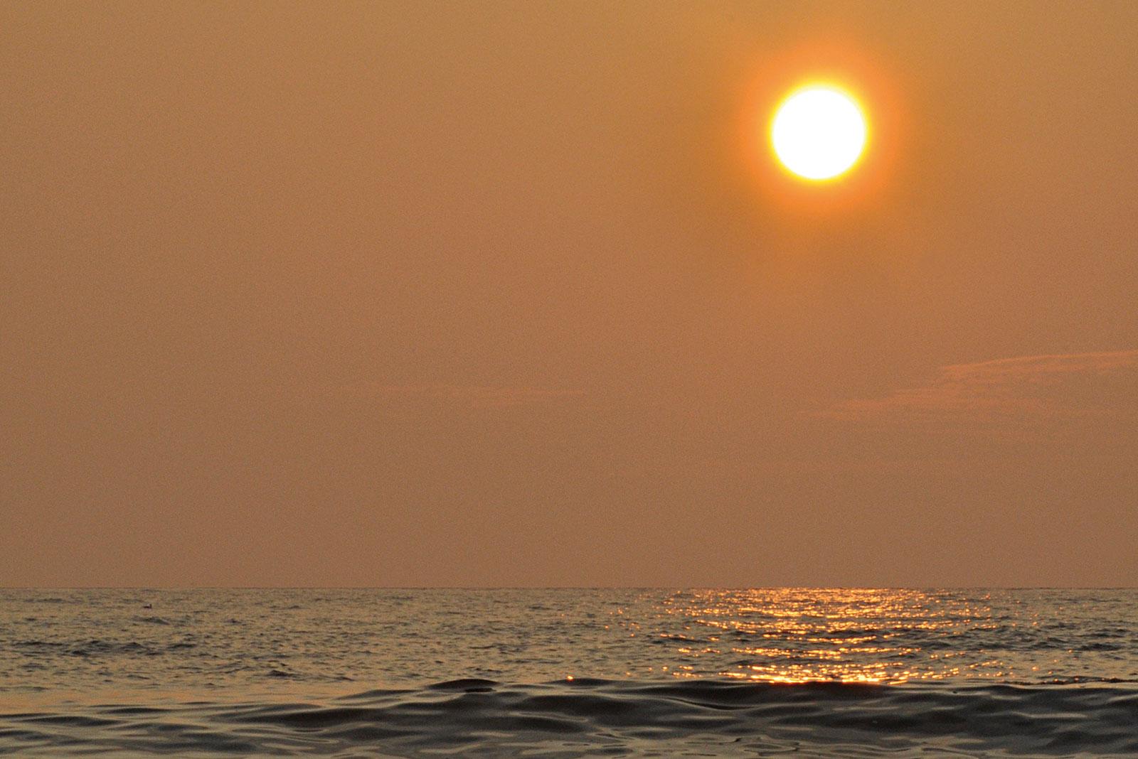 zonsondergang-zee-strand